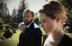 "Joshua Leonard and Claire Foy in ""Unsane"""
